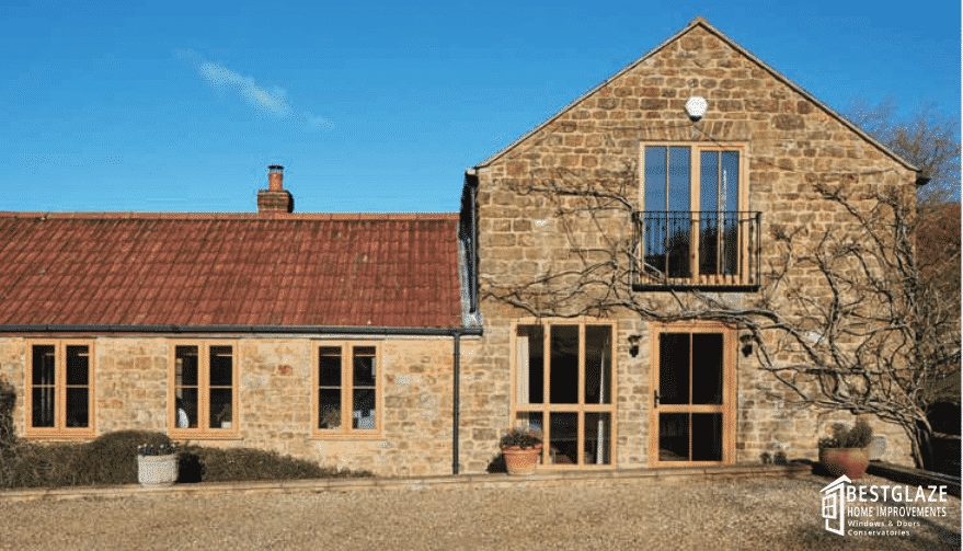 Casement Windows in traditional style building