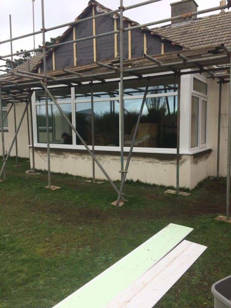 3 piece bay, anthracite grey cladding in cornwall
