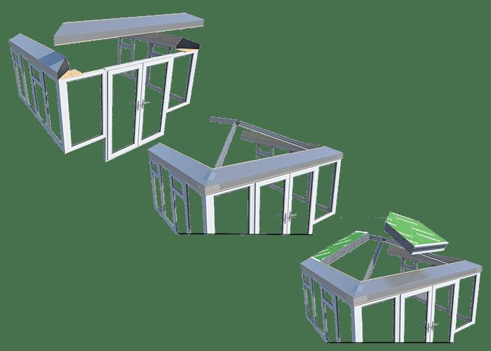 Ultraroof frame installation