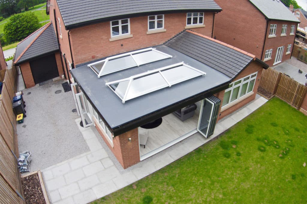 GRP Roof with lanterns