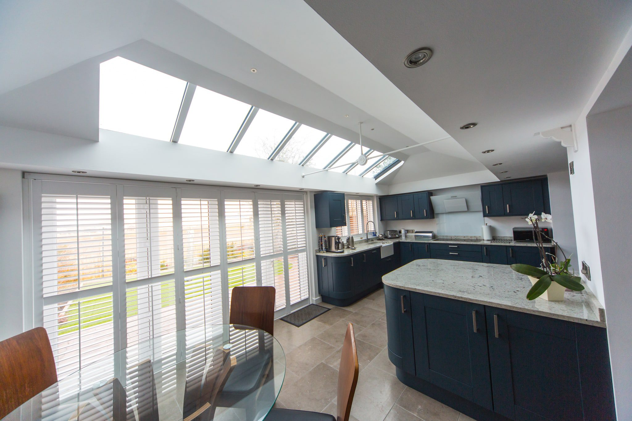 LivinROOF internal view extension dining area