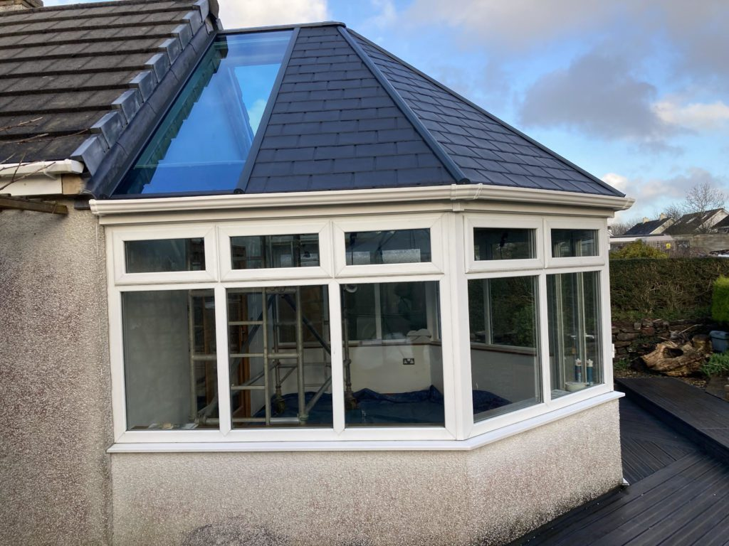 Ultraroof tiled conservatory roof