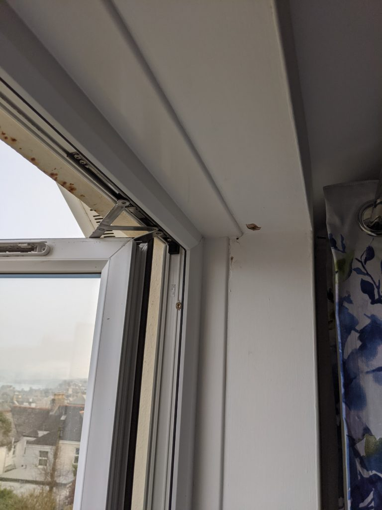 Old window in need of replacement