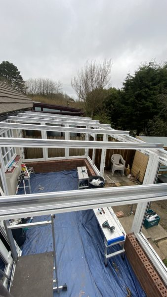 glazing bars fitted on conservatory installation