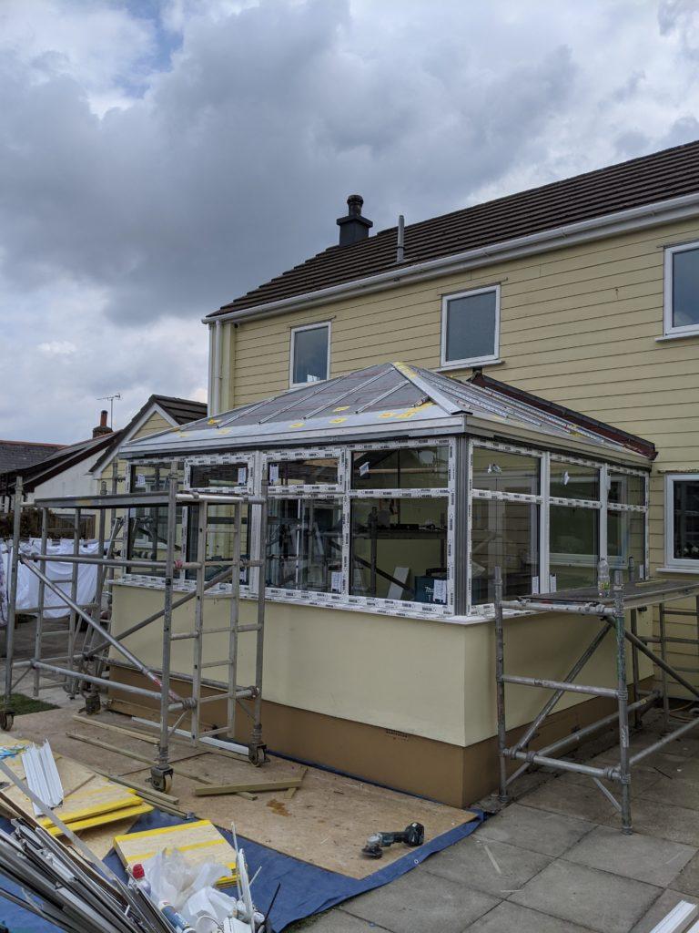 Ultraroof insulation panels installed