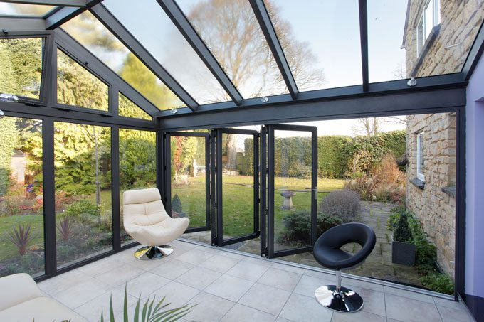 Modern Conservatory with Glass Roof