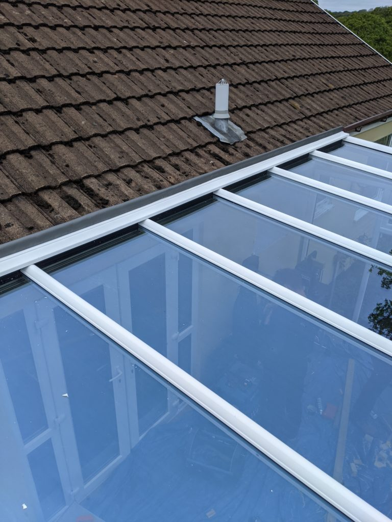 Raised Box gutter conservatory on a bugalow