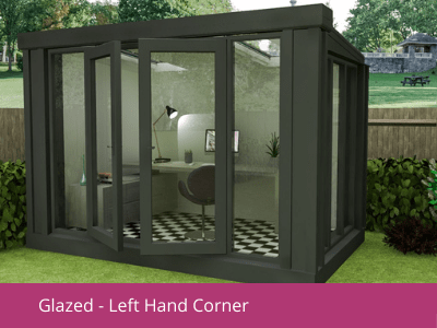 Glazed left hand corner