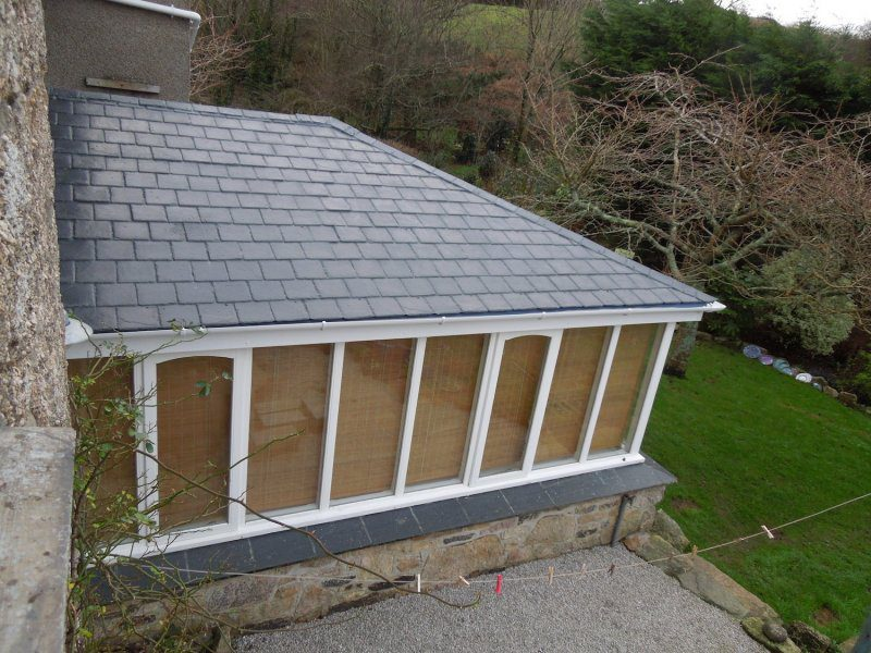 GRP Tiled conservatory roof