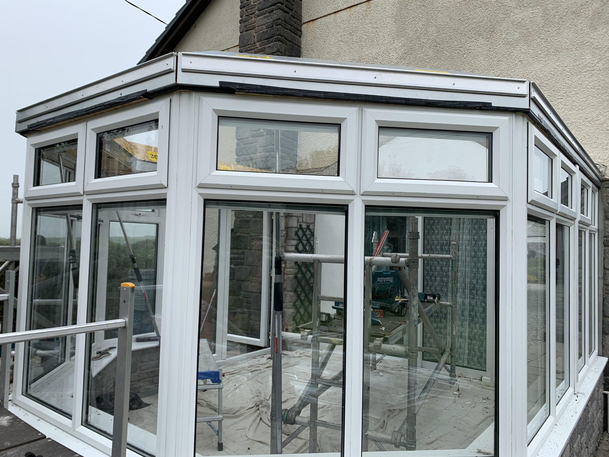Ultraroof eaves beams installed
