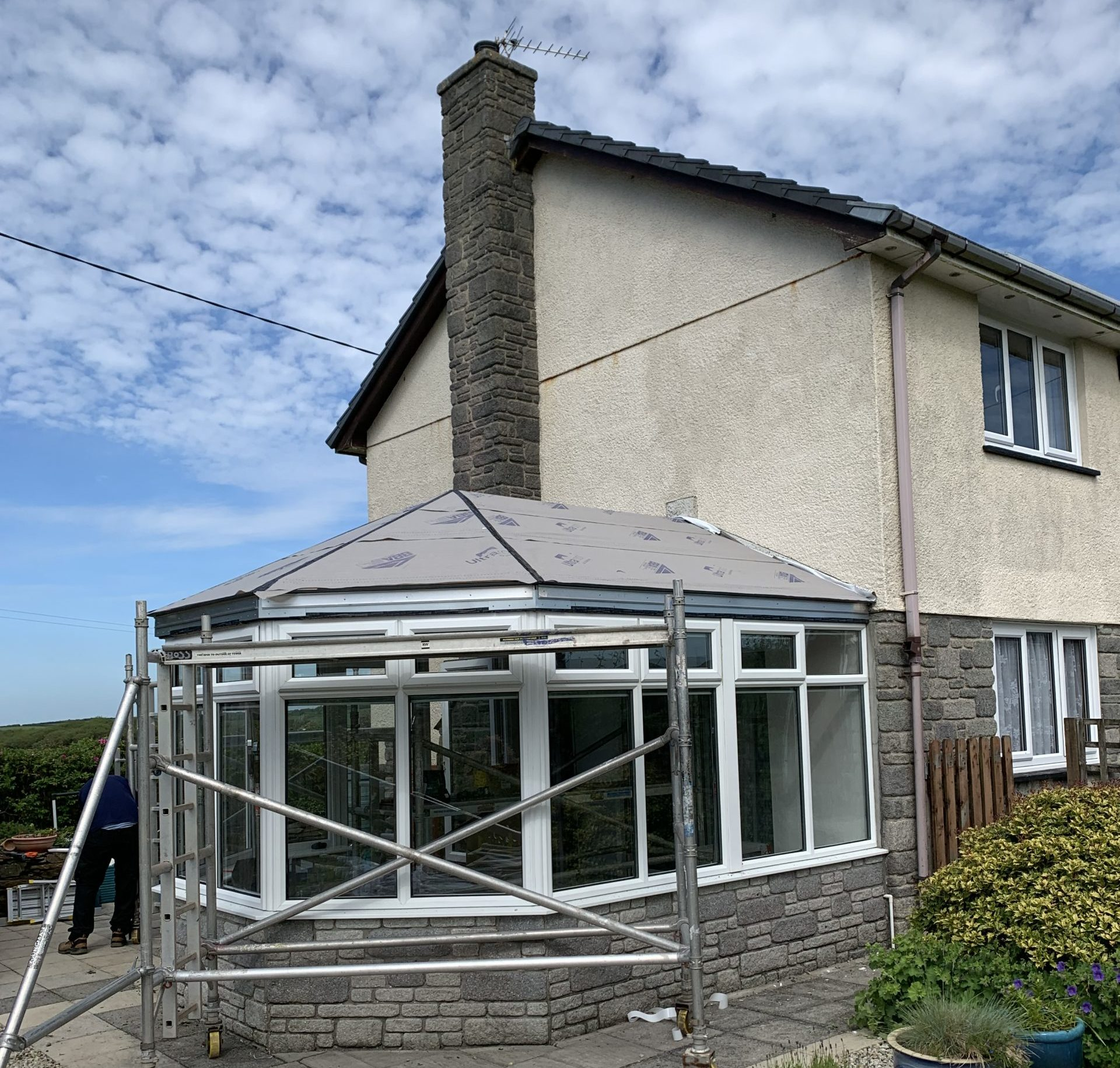 Vapour barrier installed on conservatory roof