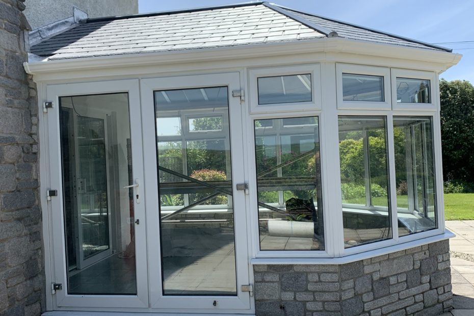 tiled conservatory