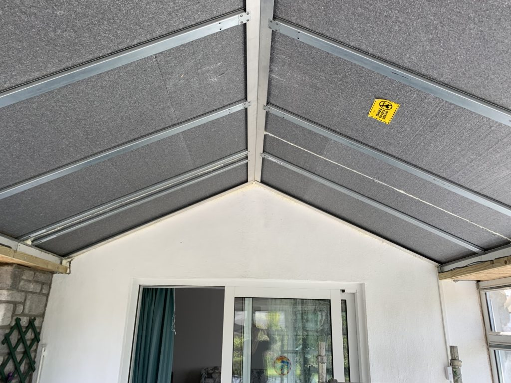Internal view of ultraroof insulation