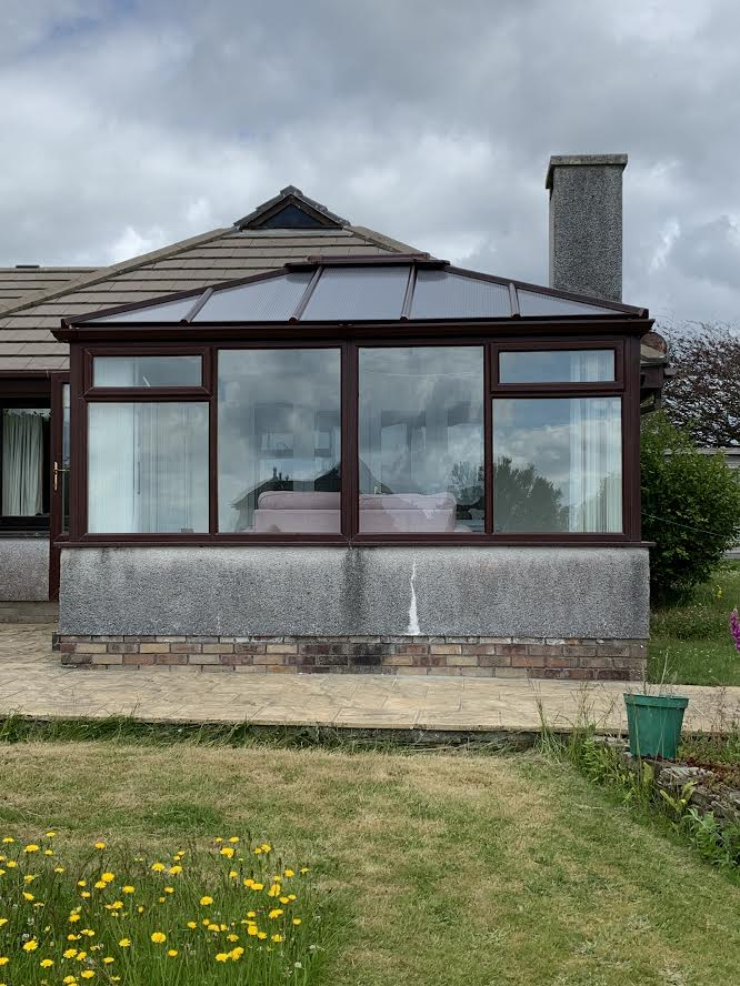 Replacement polycarbonate roof Looe Cornwall