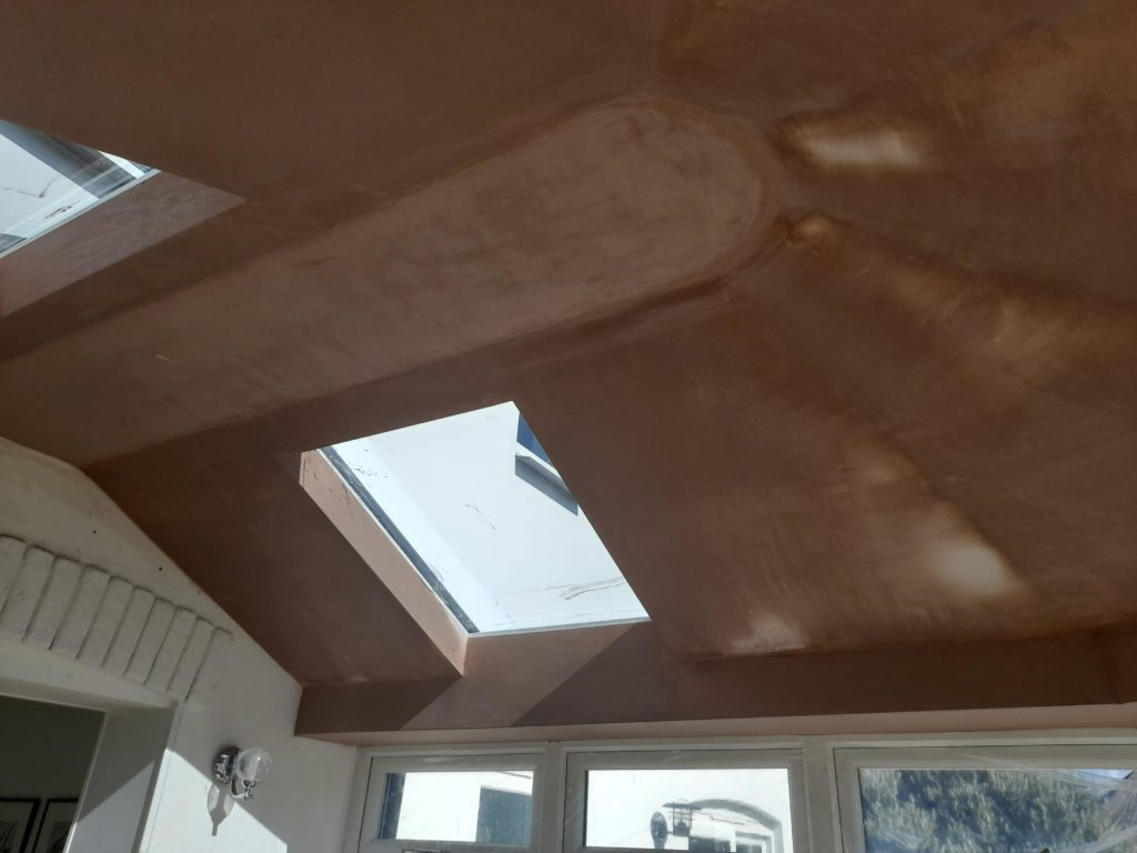 Livinroof plastered finish